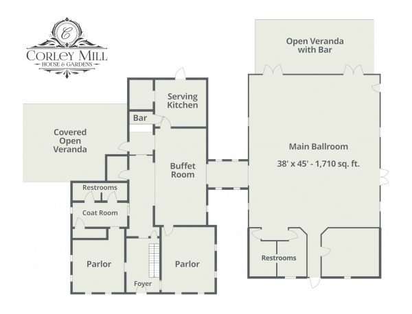 Corley Mill House Site Plan Main Level
